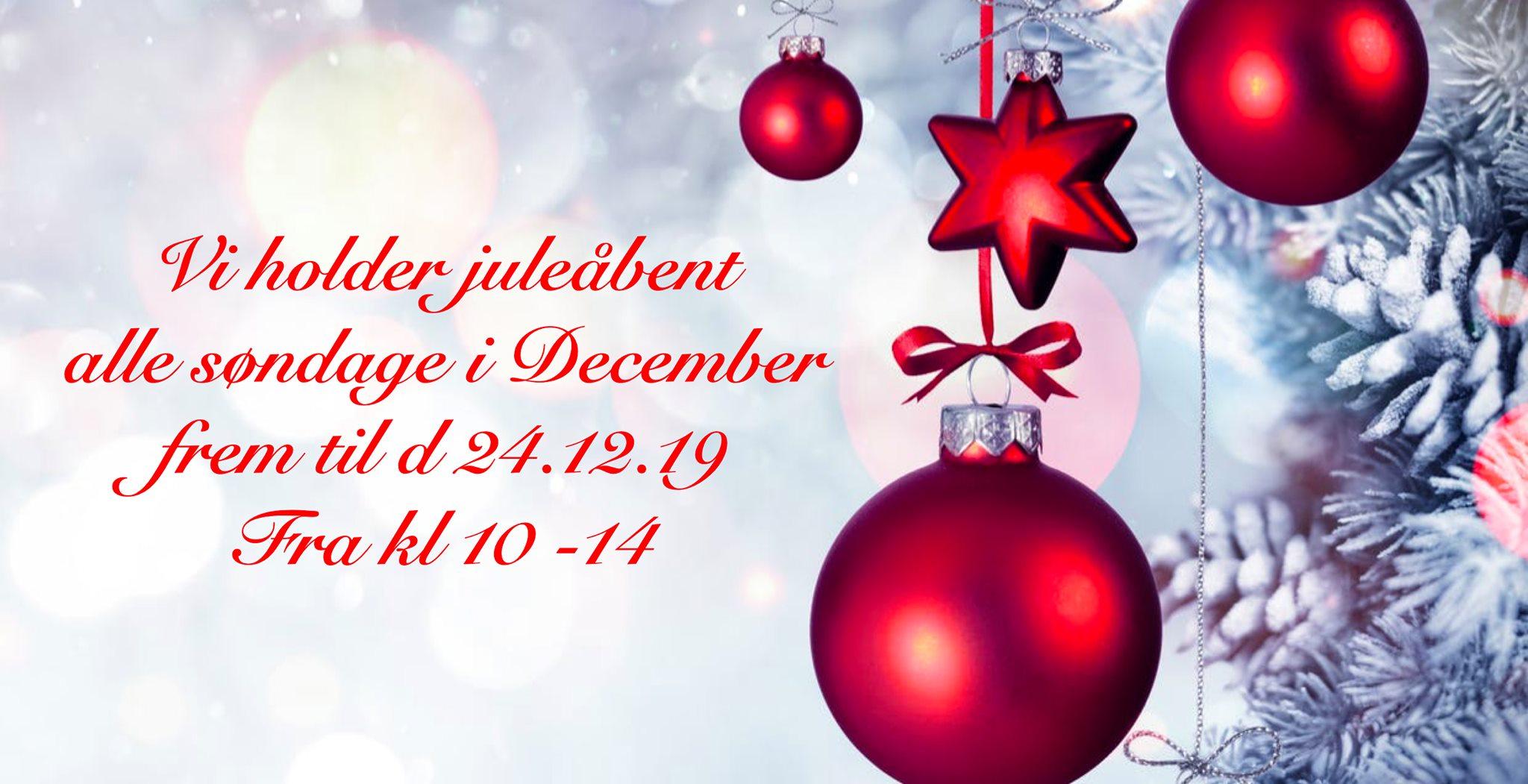 Juleåbent søndagsåbent 2019