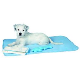 Hvalpesæt tæppe lyseblå