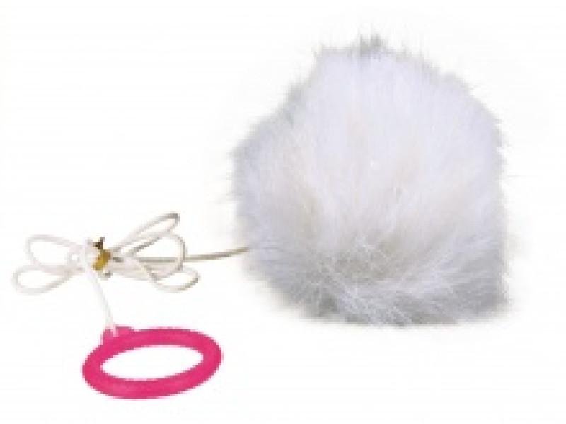 Pelsbold med elastik Ø 7cm