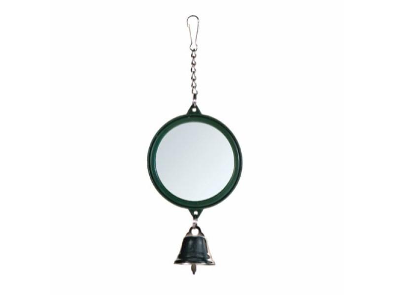 Spejl rund med klokke Ø7,5cm