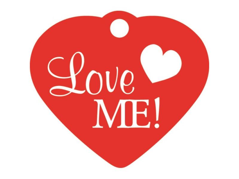 Tegn - Hjerte Rød lille Love M