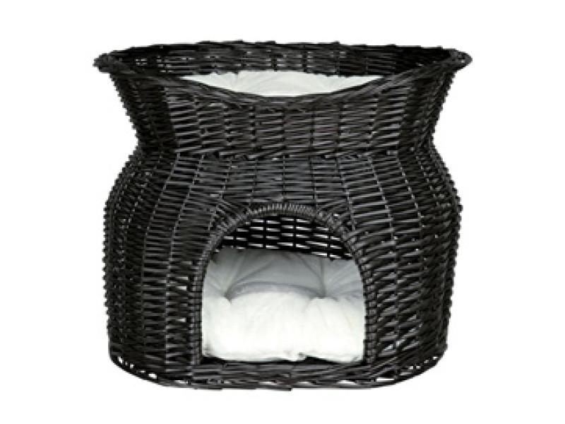 Kattehule i pil m/seng sort
