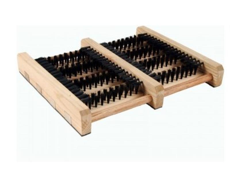 Støvlerenser træ m/børster