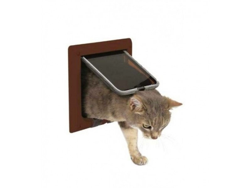 Kattedør de luxe Freecat brun