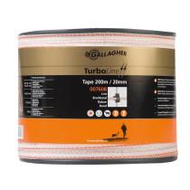 TurboLine Bånd 20mm hvid 200m