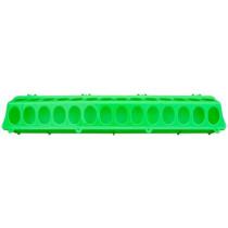Fodertrug plast 10x50cm Grøn