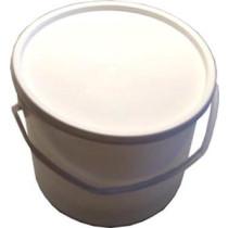 Spand plast m/låg 11,5ltr hvid