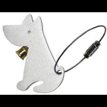 Nøglering alu-design hund