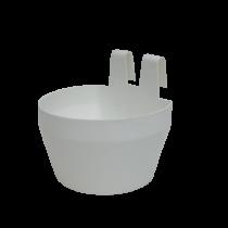 Drikkeskål/foderskål hvid