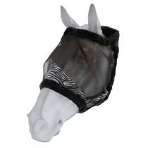 Fluemaske u/ører HG Zebra