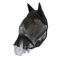 Fluemaske m/frynser HG Zebra