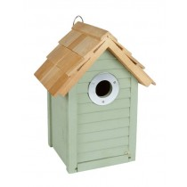 Beach Hut Nest Box Sage Green