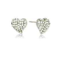 Heart ørering crystal