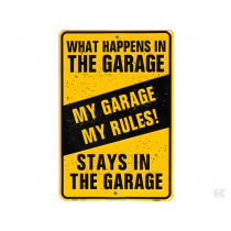 Skilt What Happens in the Gara