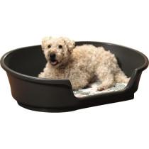 Hundeseng plast sort 104x70x30