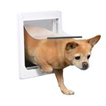 Hundedør 2-vejs XS-S hvid 25x2