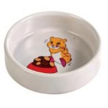 Hamsterskål m/motiv keramik