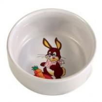 Kaninskål m/motiv keramik