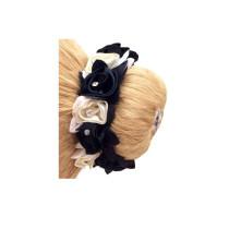 Mixed Diamond rose scrunchie