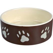 Keramikskål 0,8l Brun m.poter