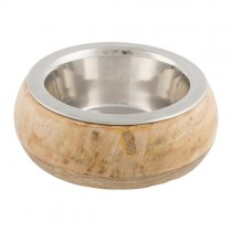 Skål rustfri stål/træ 0,45ltr