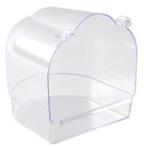 Badekar kantet transparent