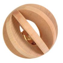 Lameltræbold med klokke Ø6cm