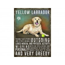 Skilt Yellow Labrador