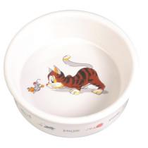 Keramikskål m/kattemotiv Ø11cm
