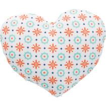 Hjerte jute/stof 8cm